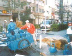 町内清掃の様子