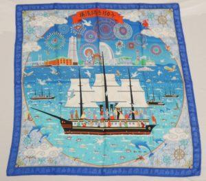 「横濱開港150年」記念スカーフ